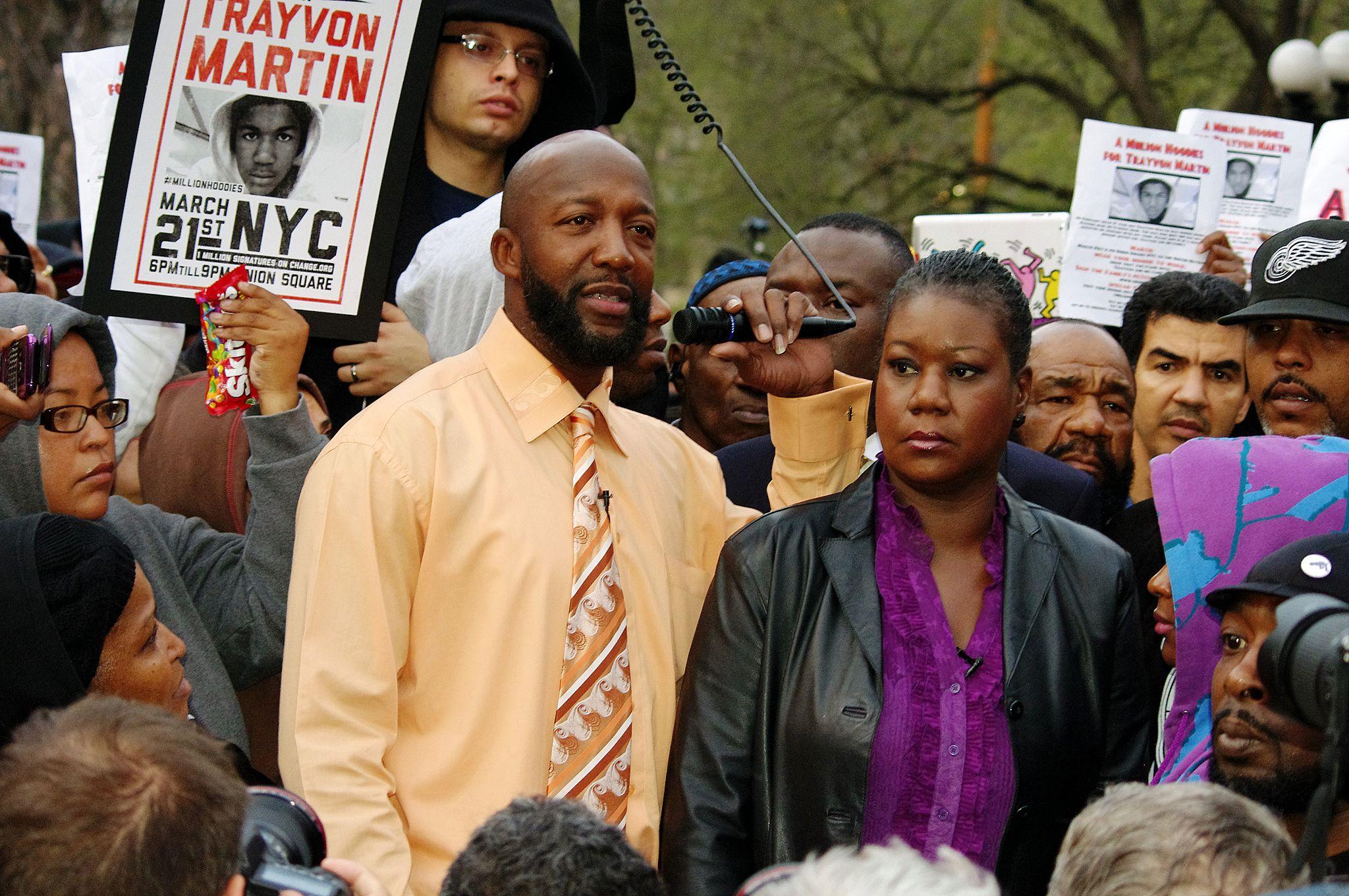 Trayvon Martins Eltern 2012